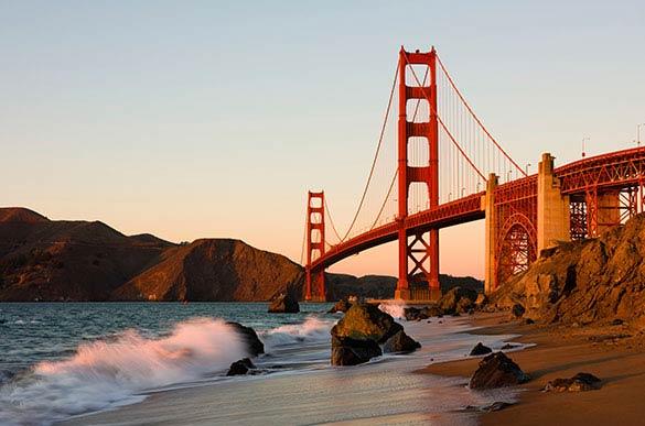 Golden Gate Bridge at California