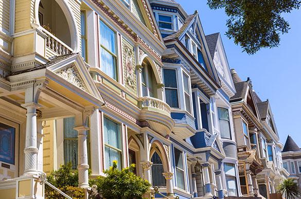 San Francisco, California The Victorian Home Walk